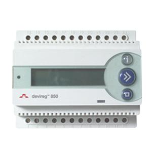 Терморегулятор DEVIreg™ D-850 IV на шину DIN, с источником питания 24 В DEVI 140F1084