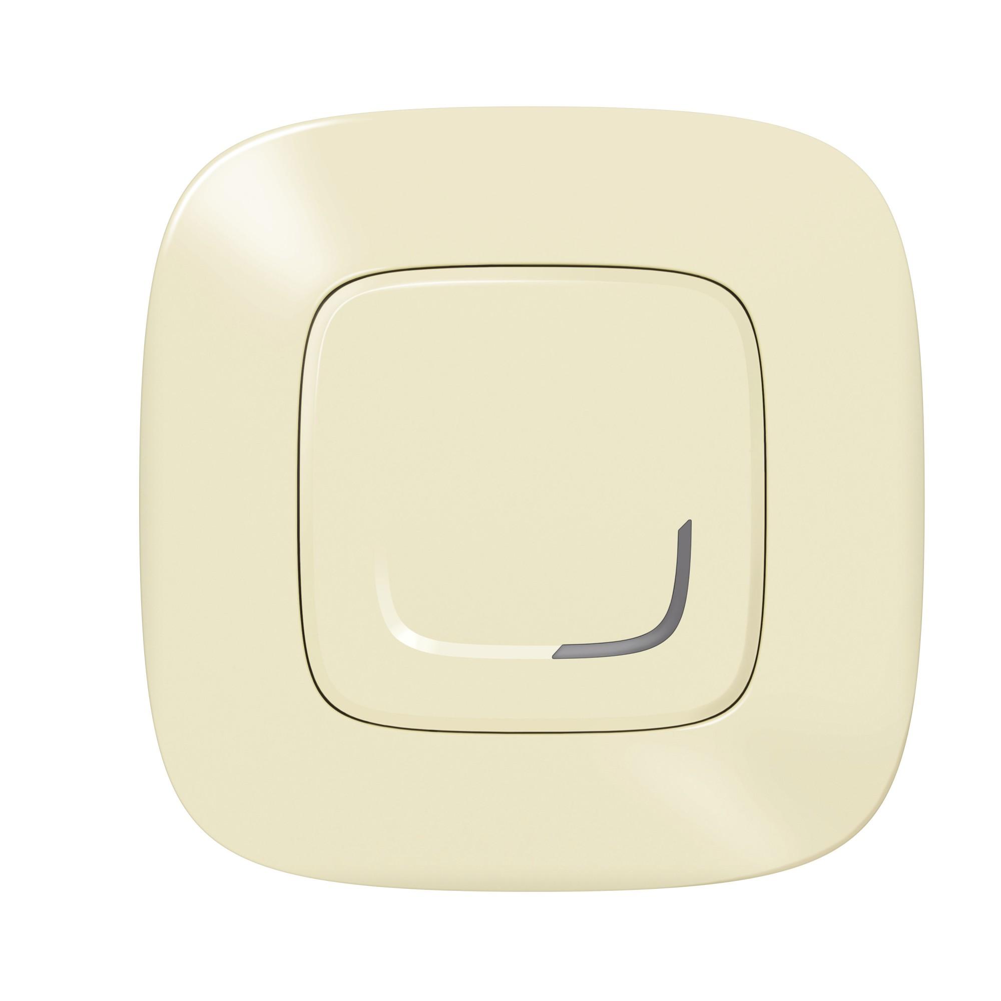 Умный проводной выключатель с опцией светорегулирования 5-300 Вт 230В. Цвет Слоновая кость Legrand Valena Allure with NETATMO 752684