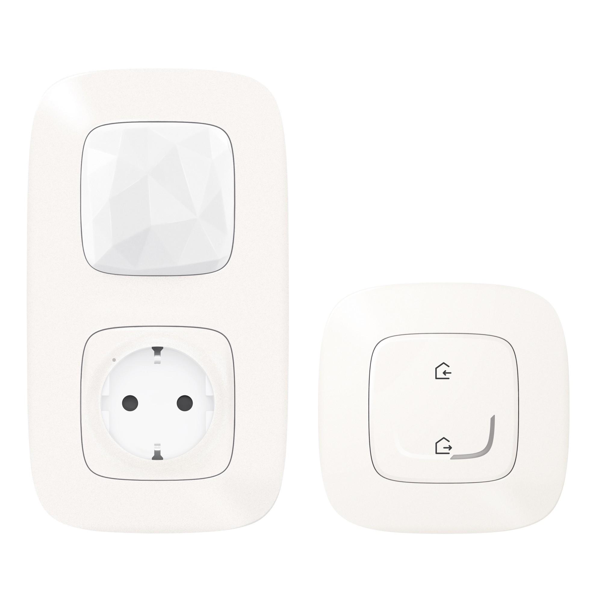 Стартовый пакет.  Шлюз WiFi + умная розетка 2К+З 16А 230В + главный беспроводной выключатель